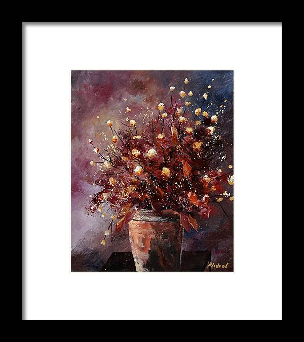 Poppies Framed Print featuring the painting Bunch 56 by Pol Ledent