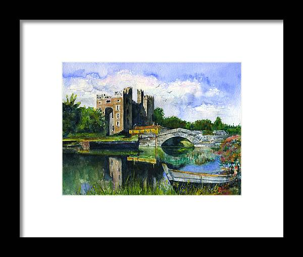 Bunratty Framed Print featuring the painting Bunratty Castle by John D Benson
