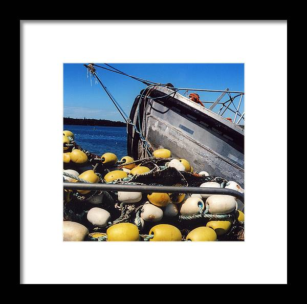 Boat Framed Print featuring the photograph Buoys by Andrea Simon