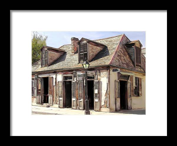 Blacksmith Framed Print featuring the painting Burbon Street Blacksmith by Russell Michael
