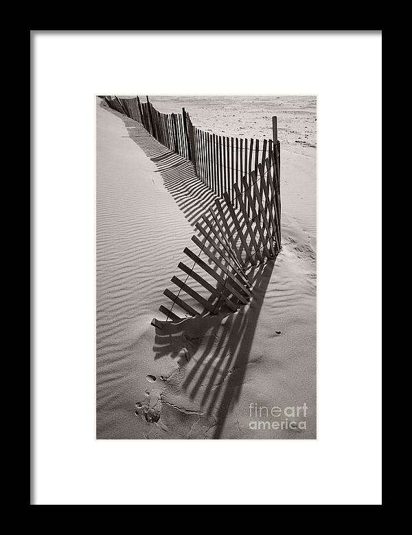 Snow Fencing Framed Print featuring the photograph Buried by Timothy Johnson