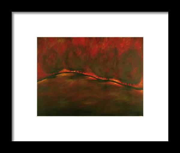 Fire Framed Print featuring the painting Burn by Ellen Lewis