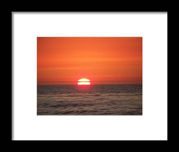 Sunsets Framed Print featuring the photograph Burning Breath by Maggie Cruser