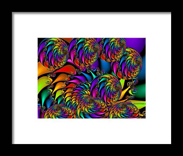 Colorful Framed Print featuring the digital art Burning Embers- by Robert Orinski