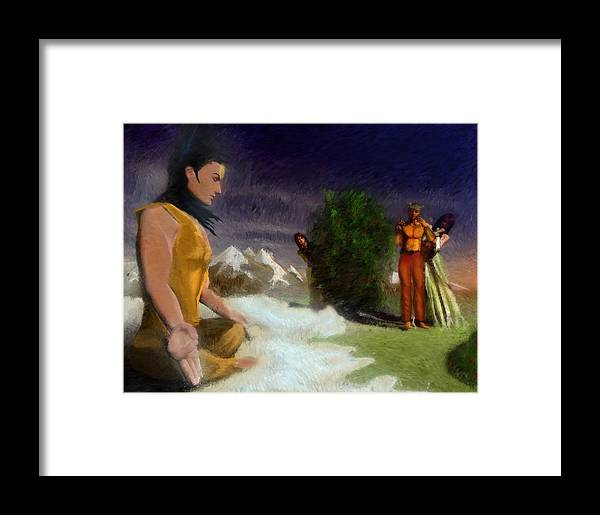 Shiva Framed Print featuring the painting Burning Eye by Randhir Rawatlal