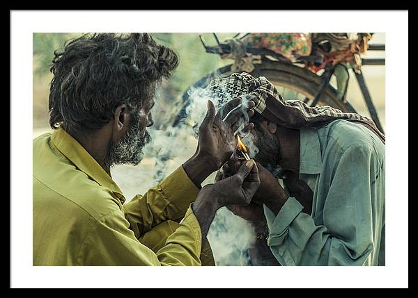 Drugs Framed Print featuring the photograph Burning For Peace by Sardar Hasan