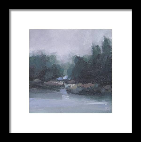 Landscape Framed Print featuring the painting Burning Off by Mary Brooking
