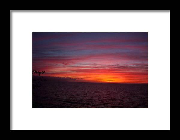 Ocean Framed Print featuring the photograph Burning Sky 2 by James Johnstone