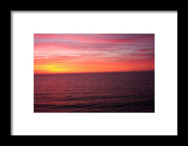 Ocean Framed Print featuring the photograph Burning Sky by James Johnstone