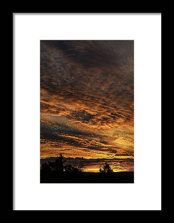 Sunrise Framed Print featuring the photograph Burning Sky by Per Martin Kristiansen