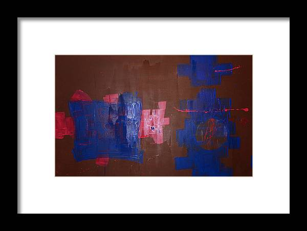 Contemporary Abstract Framed Print featuring the painting Burning The Midniht Oil by John Wesley