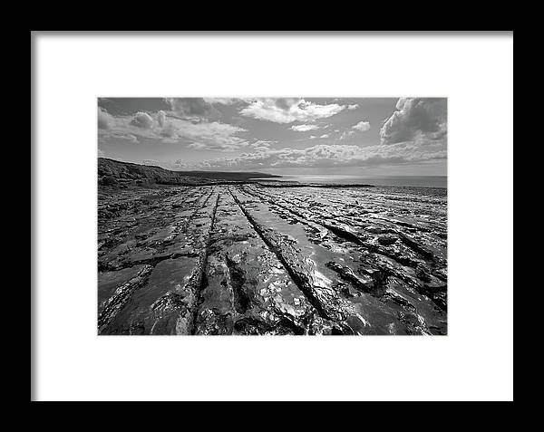 Burren Framed Print featuring the photograph Burren Limestone Landscape In Ireland by Pierre Leclerc Photography