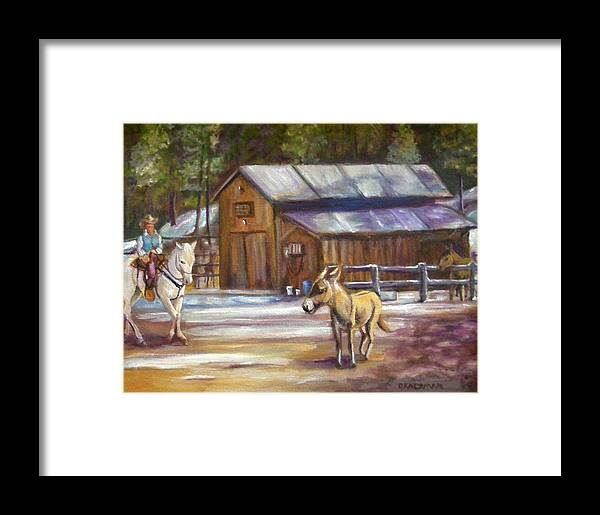 Landscape Framed Print featuring the painting Little Jack At Old Town by Olga Kaczmar