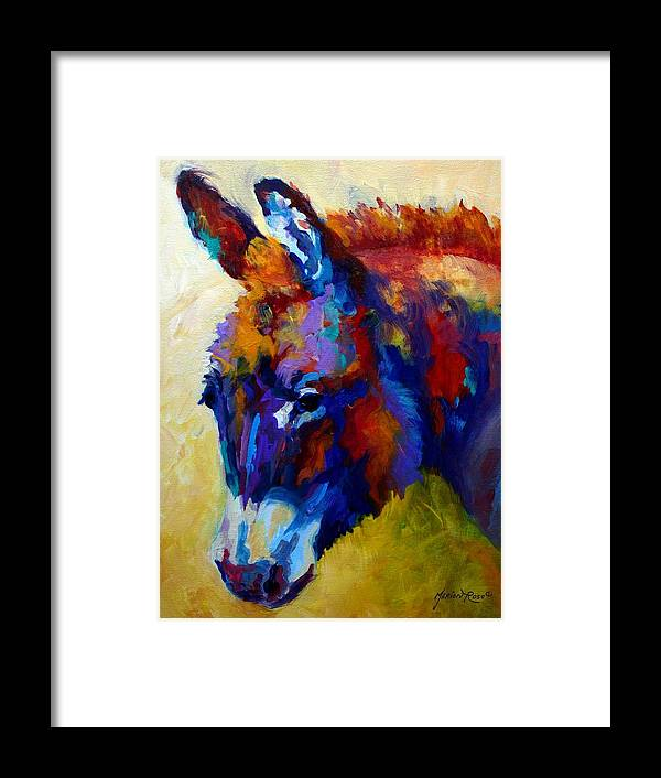 Western Framed Print featuring the painting Burro II by Marion Rose