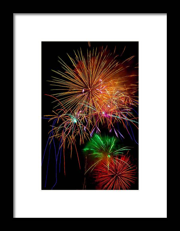 Dazzling Framed Print featuring the photograph Burst Of Bright Colors by Garry Gay