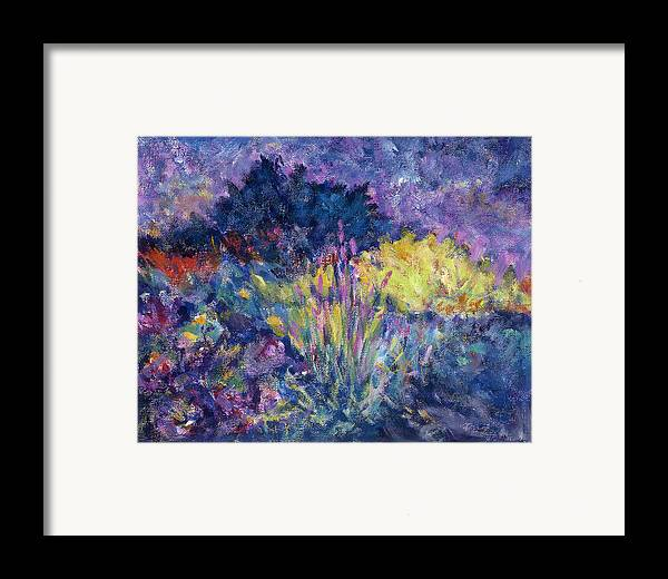 Impressionism Framed Print featuring the painting Burst Of Color-last Night In Monets Gardens by Tara Moorman