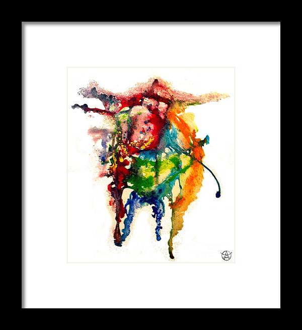 Abstract Framed Print featuring the painting Bus by Agneta Holmqvist