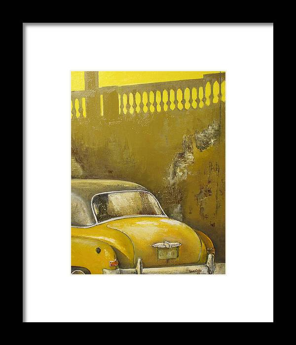 Havana Framed Print featuring the painting Buscando La Sombra by Tomas Castano