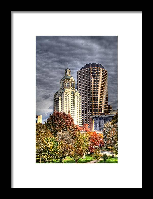 Framed Print featuring the photograph Bushnell Park Hartford by Sam Turgeon