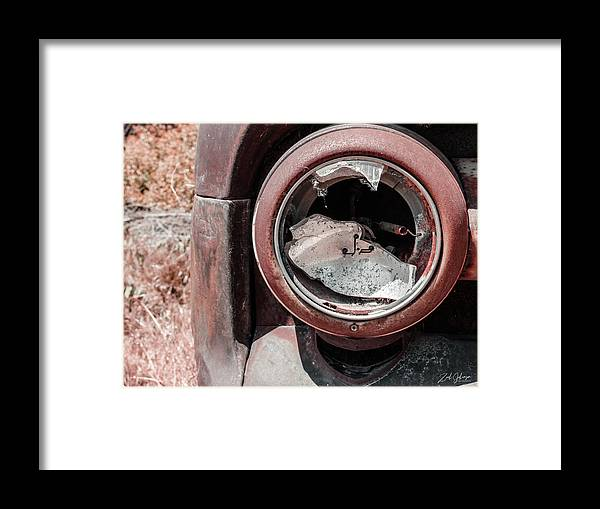 Busted Headlight Framed Print featuring the photograph Busted Headlight by Zach Johanson