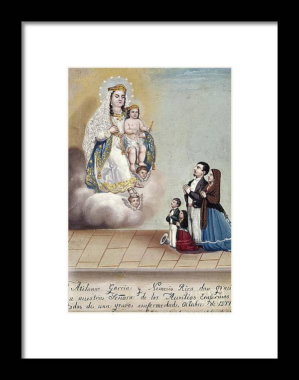 1879 Framed Print featuring the photograph Bustos: Worship, 1879 by Granger