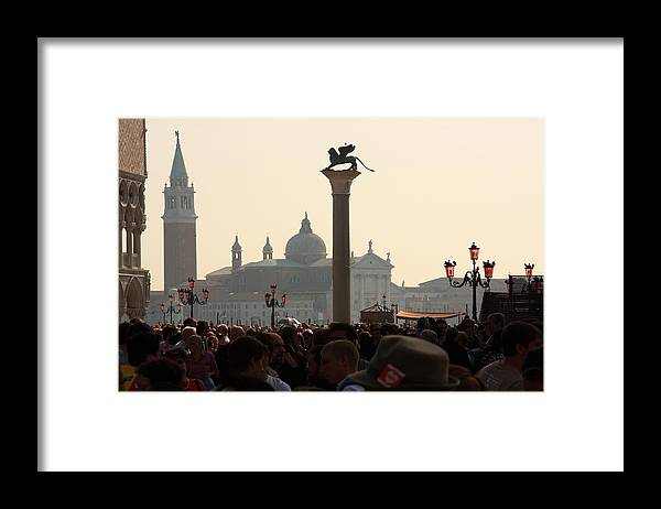 Venice Framed Print featuring the photograph Busy Day at St. Mark's Square by Michael Henderson