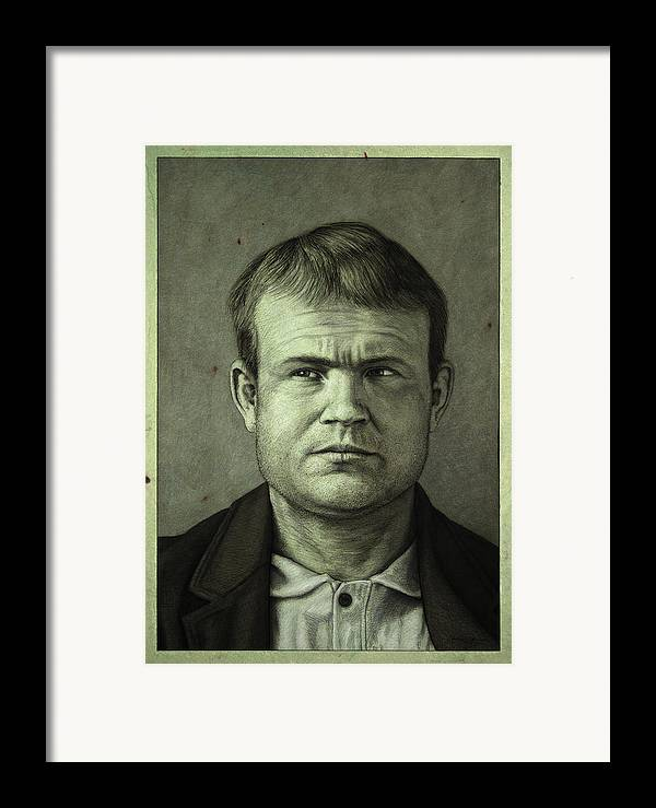 Butch Cassidy Framed Print featuring the painting Butch Cassidy by James W Johnson