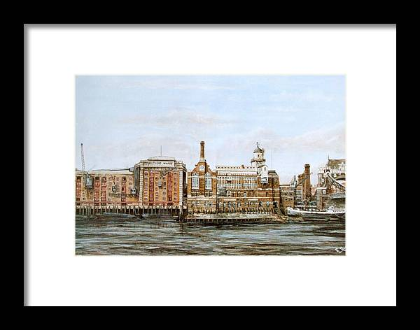 Butlers Wharf Framed Print featuring the painting Butlers Wharf And Courage's Brewery by Mackenzie Moulton