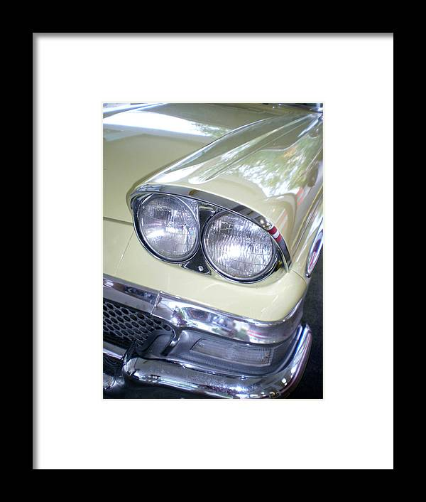 Cars Framed Print featuring the photograph Butter And Chrome by Jan Amiss Photography
