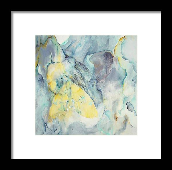 Abstract Impressionism Framed Print featuring the painting Butterflage by Linda Frank