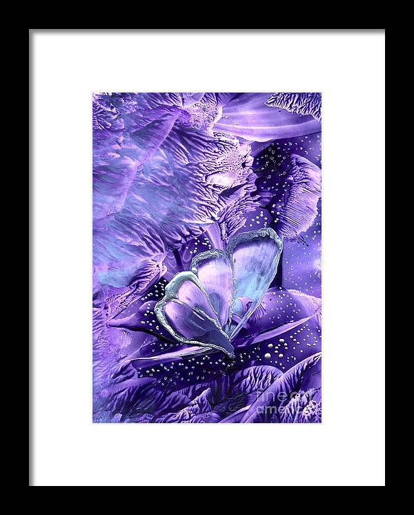 Abstract Encaustic Framed Print featuring the painting Butterflies Are Real 1 by Heather Hennick