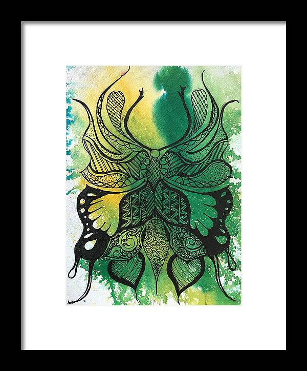 Butter Framed Print featuring the painting Butterflies by Sonal Kanakdande
