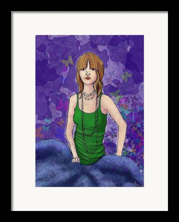 Framed Print featuring the digital art Butterfly by Aimee Helsper