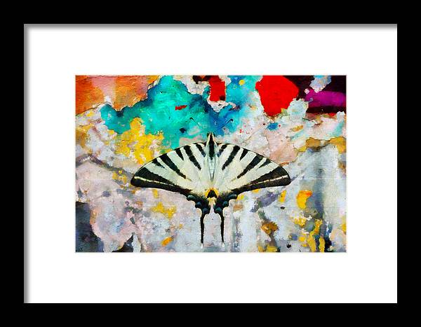 At65 Framed Print featuring the digital art Butterfly by Antonella Torquati