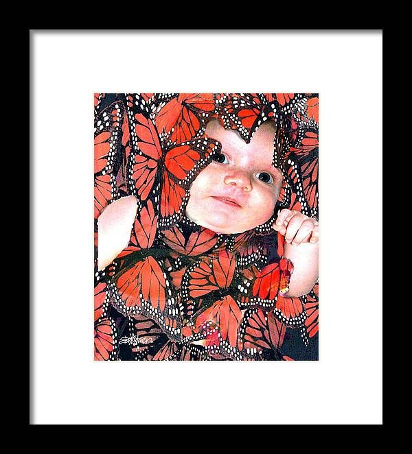 Butterfly Framed Print featuring the photograph Butterfly Baby by Seth Weaver