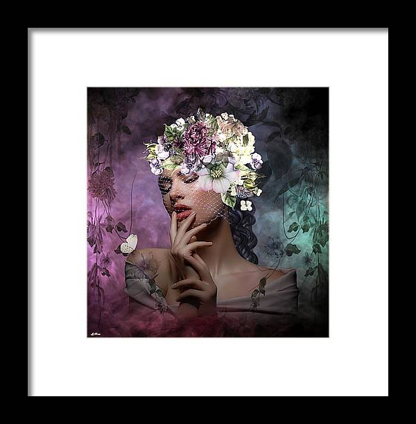 Dreamy Framed Print featuring the mixed media Butterfly Beauty 02 by G Berry