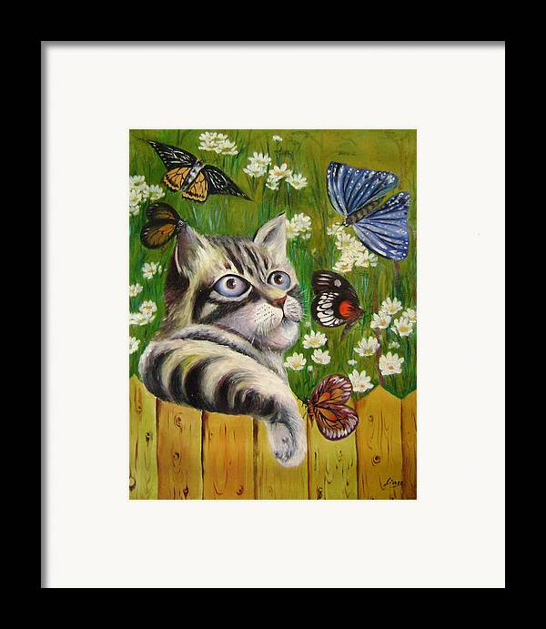 Fantasy Framed Print featuring the painting Butterfly Dream by Lian Zhen