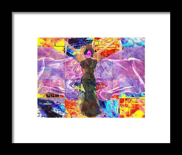Butterfly Framed Print featuring the digital art Butterfly Fantasy by Seth Weaver