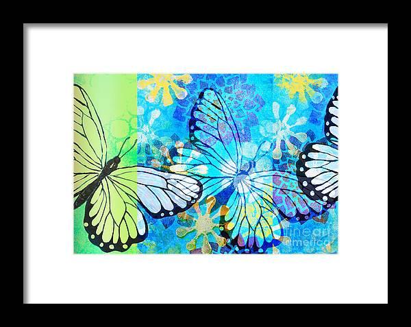 Hao Aiken Framed Print featuring the digital art Butterfly In Flight #3 by Hao Aiken