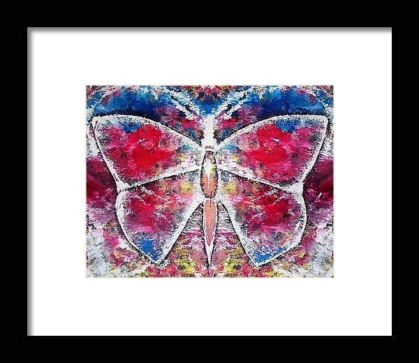 Framed Print featuring the painting Butterfly by Pruthvi Indla