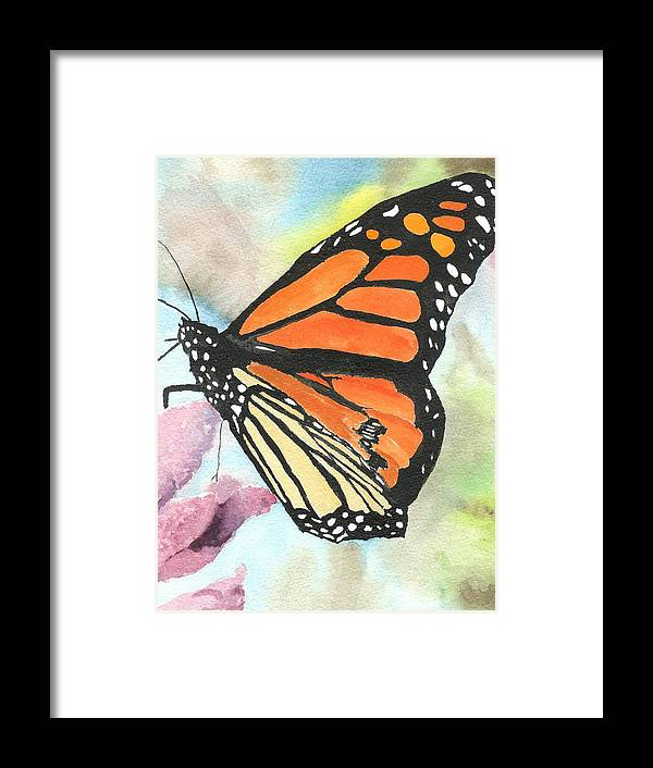 Floral Framed Print featuring the painting Butterfly by Robert Thomaston