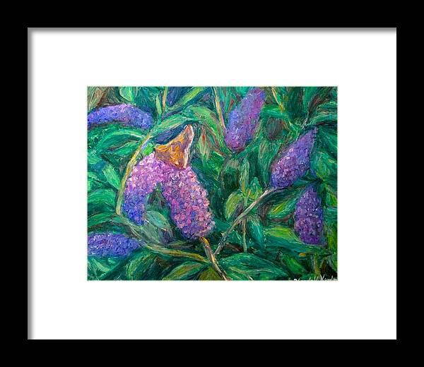 Butterfly Framed Print featuring the painting Butterfly View by Kendall Kessler