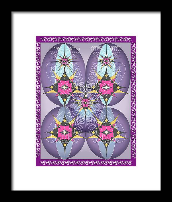 Giclee Framed Print featuring the digital art Butterfly2 by George Pasini
