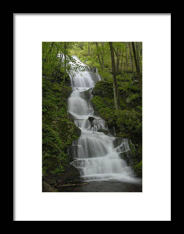 Waterfall Framed Print featuring the photograph Buttermilk Falls by Stephen Vecchiotti