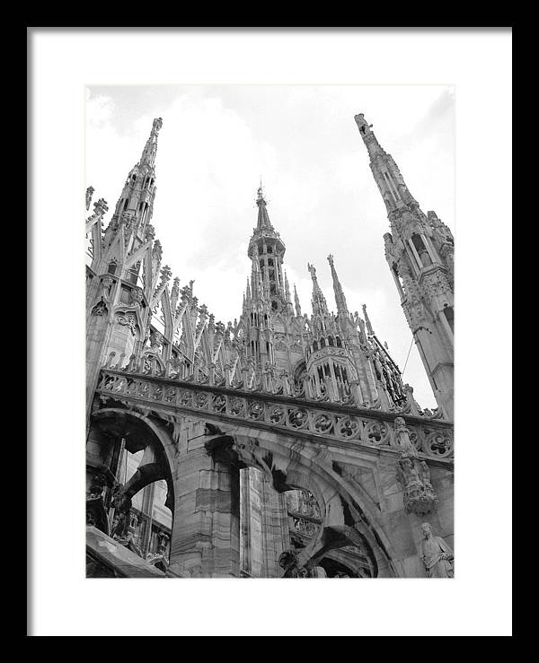 Cathedral Framed Print featuring the photograph bw2 by Mikael Gambitt