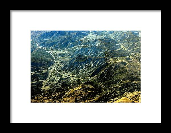 Landscape Framed Print featuring the digital art By Air by Don Prioleau