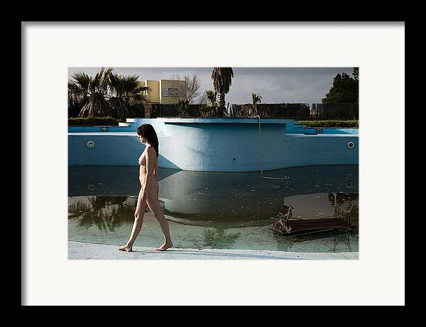 Nudes Framed Print featuring the photograph By The Old Pool by Olivier De Rycke