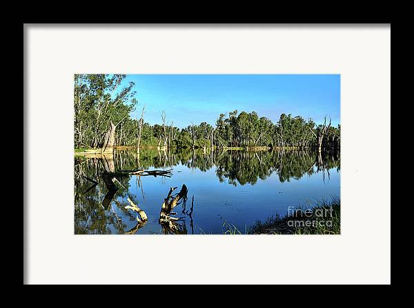 By The River Framed Print featuring the photograph By The River by Kaye Menner