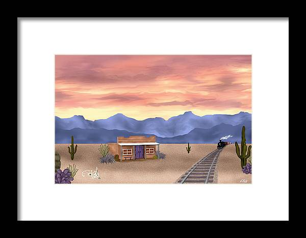 Contemporary Framed Print featuring the painting By The Tracks by Gordon Beck