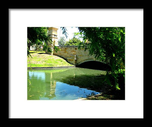 Framed Print featuring the photograph By The Water by Diana Moya